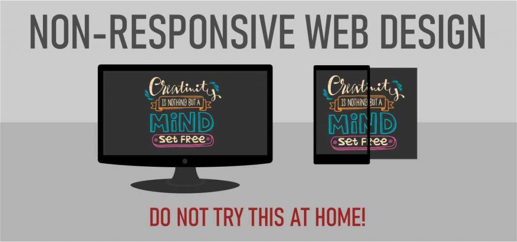 Ilyen egy nem reszponzív weboldal